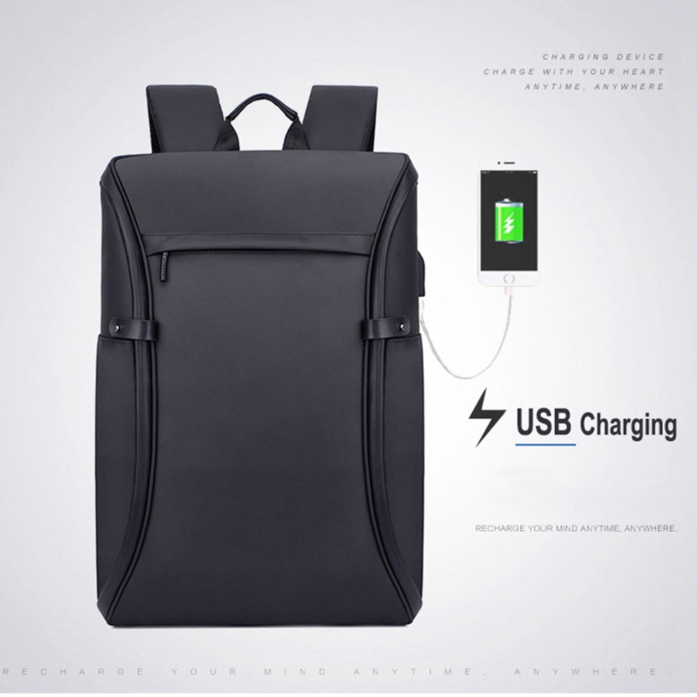HeloFrn Men Laptop Backpack USB Charging Male Shoulder Bag Black Waterproof Large Capacity Travel Mochila Chest Bag in Backpacks from Luggage Bags