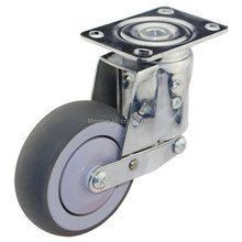 1 PCS 3 inch Medium duty shock absorbing spring swivel castors with brake caster