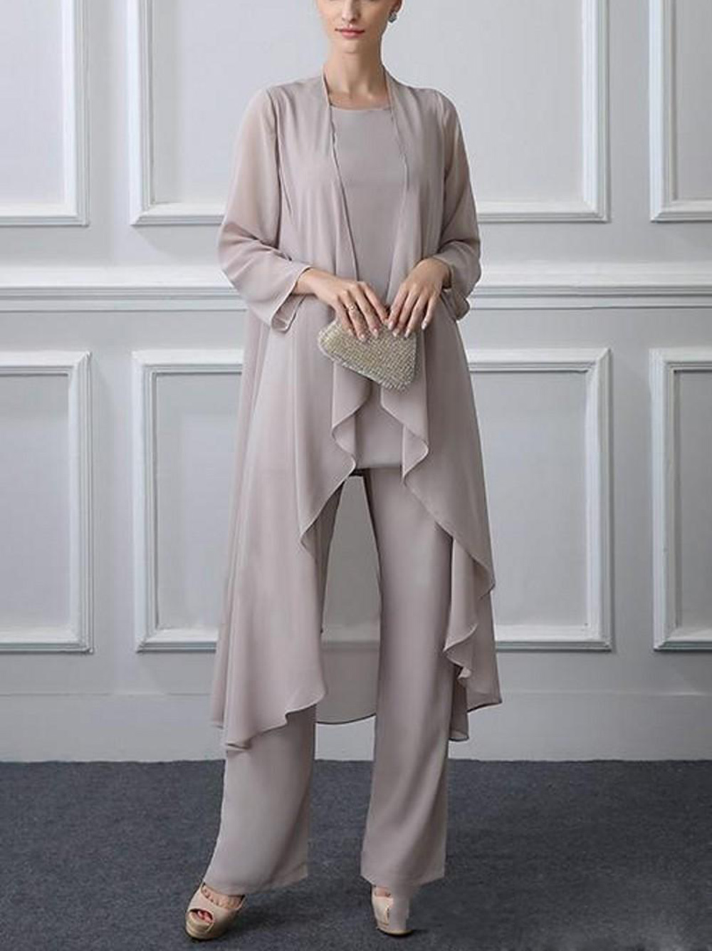 2018-new-3-pieces-plus-size-elegant-gray
