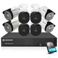 DEFEWAY  Video Surveillance 5mp Security Camera System H.265+ HD 8CH Video CCTV 8 Camera outdoor Waterproof  Camera Kit 1TB HDD