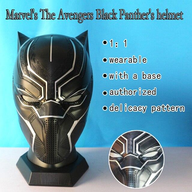 Pantera negra lâmina Marvel Avengers Alliance Capitão América capacete wearable Killerbody 1:1 com base cosplay pro frete grátis