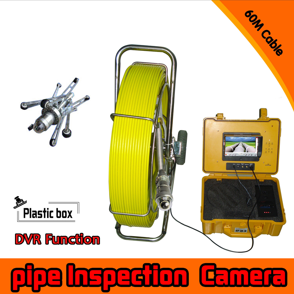 (1Set) 60M Cable surveillance system Pipe Inspection Camera Underwater waterproof IP68 DVR function CCTV camera system pan tilt