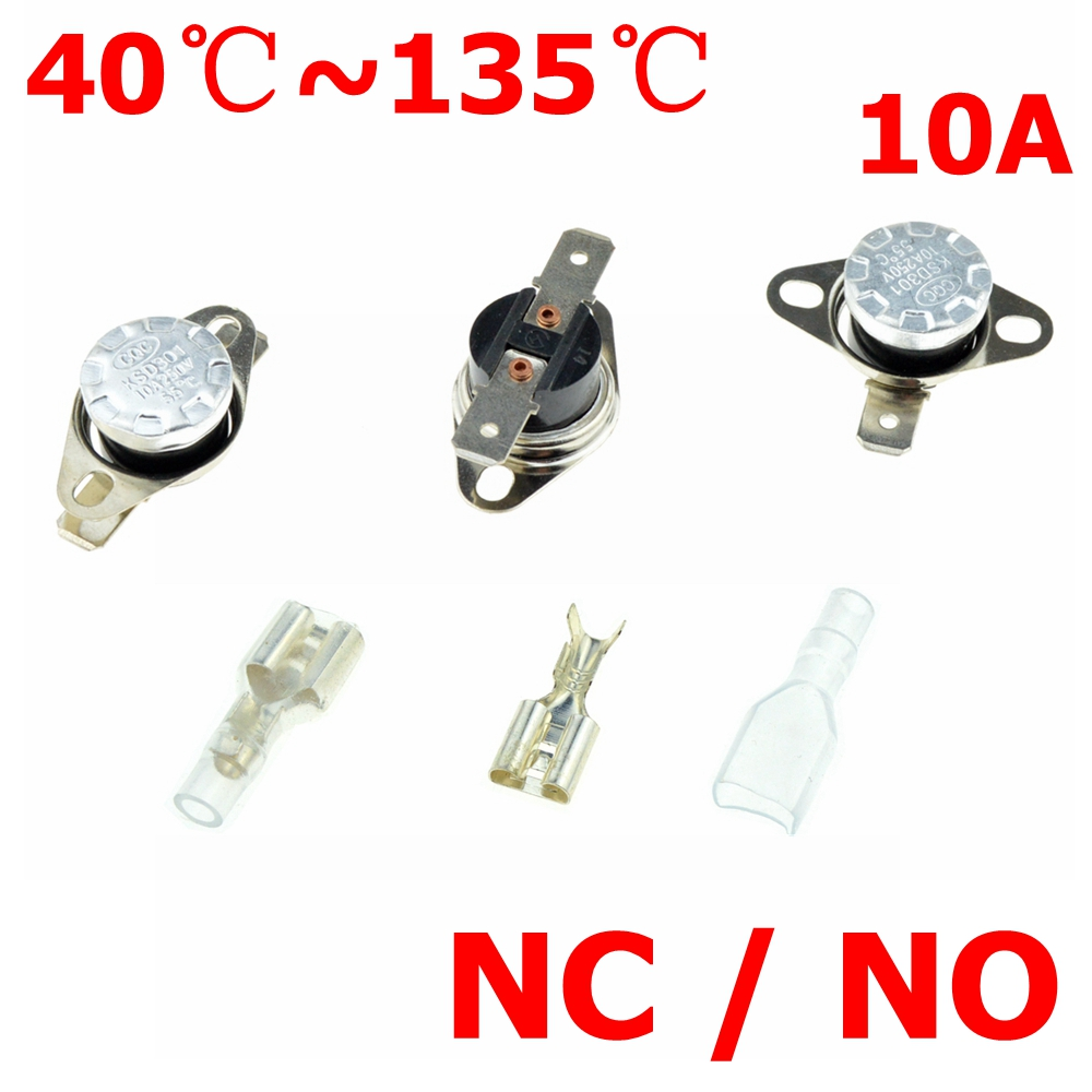 Thermostat Switch 60C 40C 50C 70C 80C 100C DegC 10A NC Normally Close NO Normal Open Thermal Sensor Temperature Switches KSD301 300 pcs temperature controlled switch thermostat 95°c n c ksd301 normal close skywalking