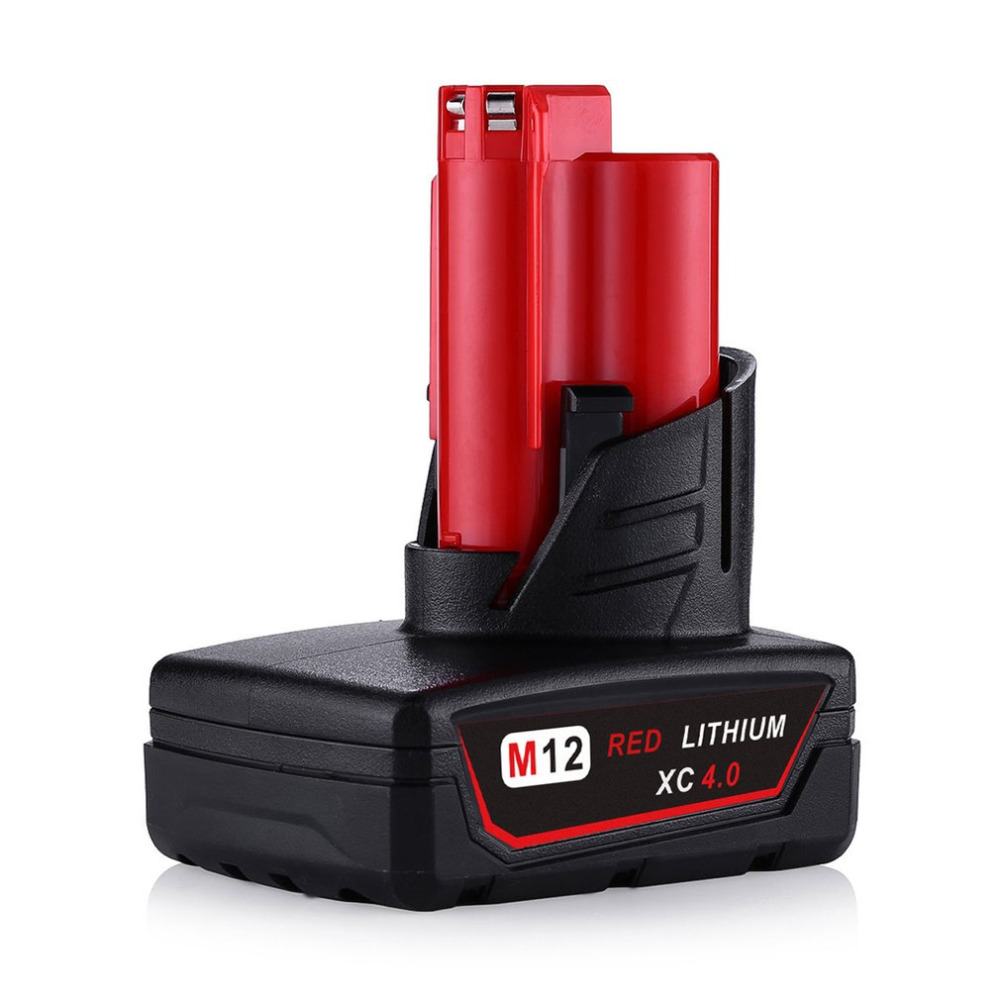 4000mAh 12V Power Tool Rechargeable Lithium Ion Battery Replacement Battery Backup 4.0Ah for Milwaukee M12