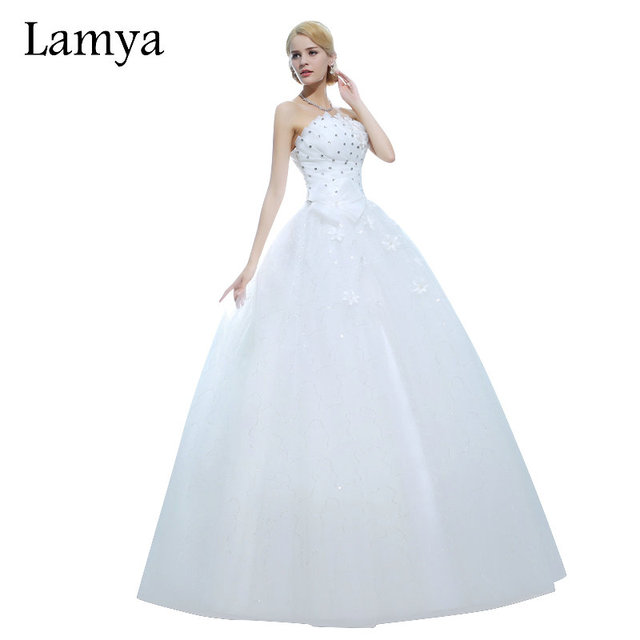 US $44.99 50% OFF|LAMYA Real Sample Crystal With Appliques Flowers Discount  Wedding Dress 2018 Fashion Sweetheart Plus Size Bridal Gown Dresses-in ...