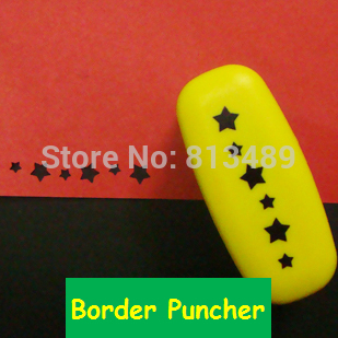 Free Ship Stars Craft Punch Border Embossing Diy Border Punch Edge Lace Punch For Card Making Scrapbooking Furadores 3187