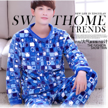 Men's Sleep Lounge 2pcs Fleece Pajamas