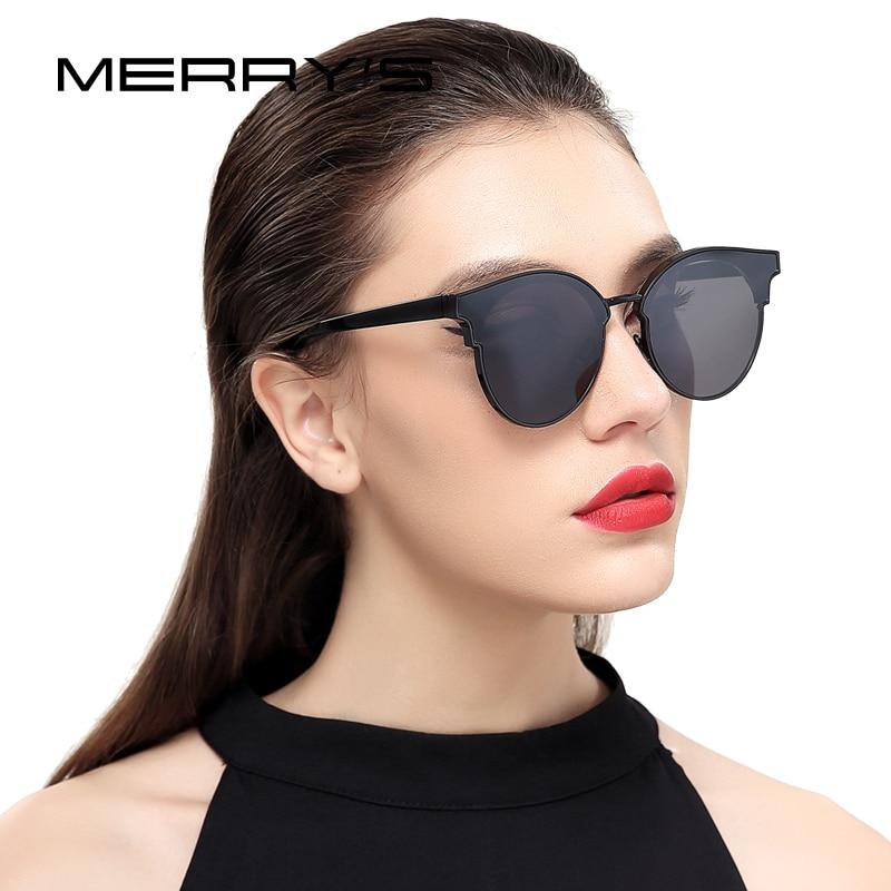 MERRYS Gafas de sol con ojo de gato clásico Diseñador de marca Semi sin montura S8082
