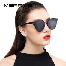 MERRYS Women Cat Eye Sunglasses Classic Brand Designer Semi