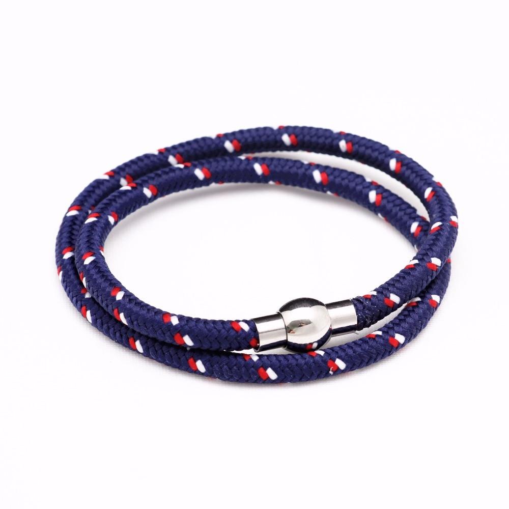 Never Fade 316 Stainless Steel Nylon Lifeline Friendship Bracelets For Best Friend Gif