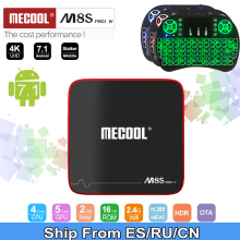 mecool m8s pro w 2G 16G Smart tvbox android 7.1 S905W CPU 2.4GHz WiFi 4K H.265 top tv box support 2500+Spain/Europe  IPTV