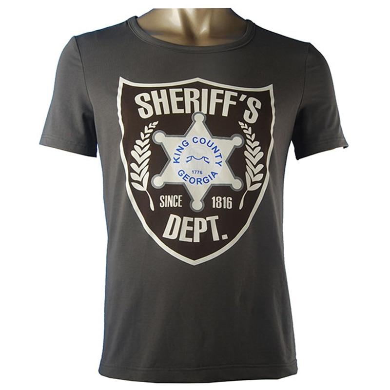 A Walking Dead Season 6 Rick Grimes Sheriff ing Egyenruhás Halloween - Jelmezek - Fénykép 5