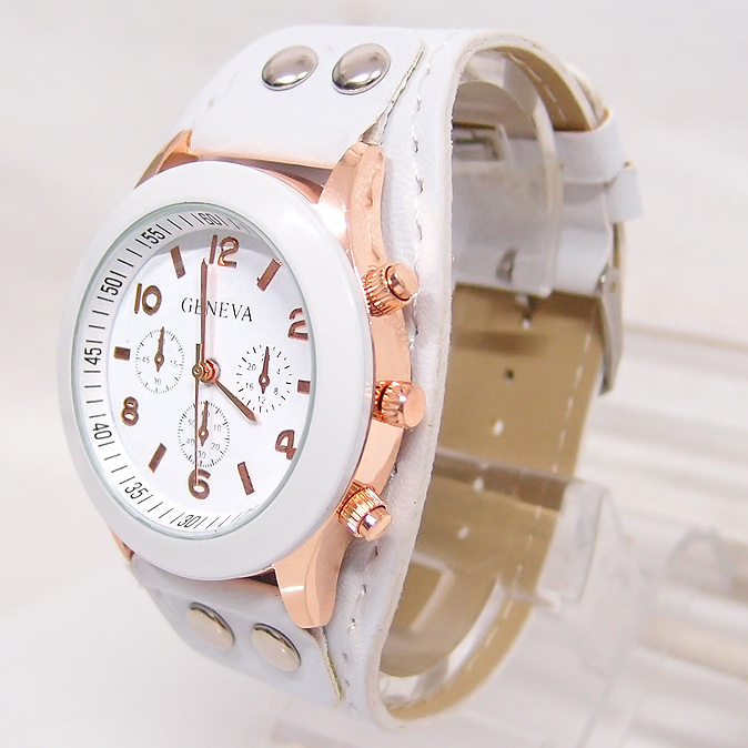 Hot Sales Geneva Leather Watch Women Ladies Casual Dress Quartz Wristwatches Relogio Feminino GO041