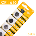 OU Button battery 5 Pcs 3V Lithium Coin Cells Button Battery CR1616 DL1616 BR1616 ECR1616 5021LC EE6221 57%off