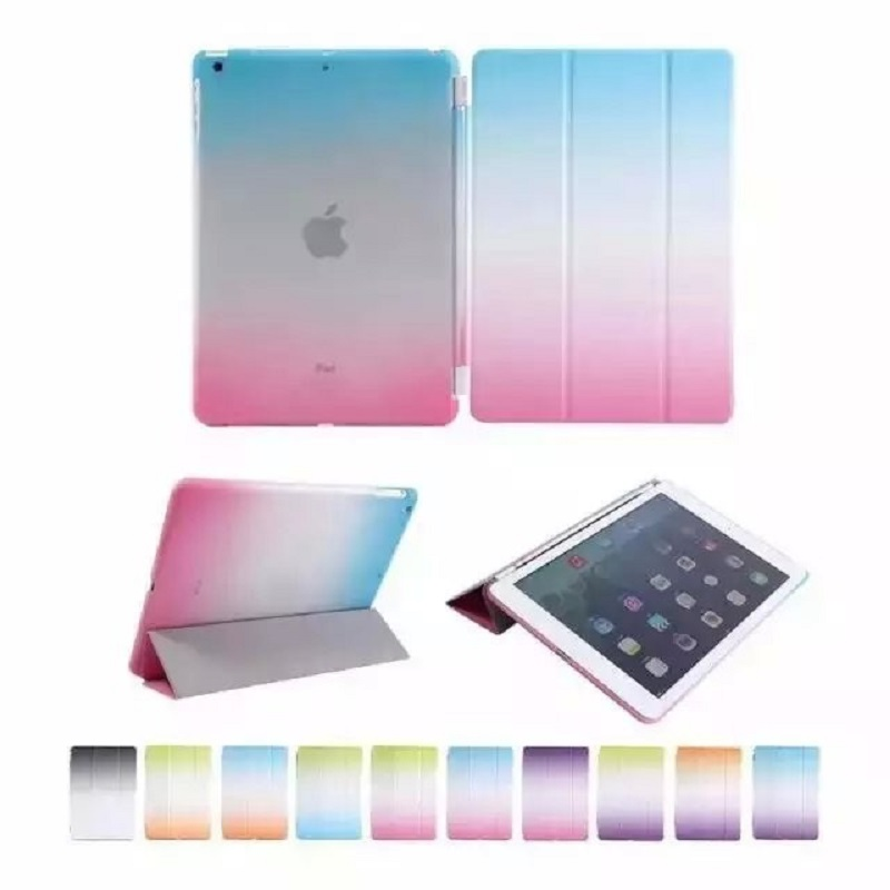 Ultra Slim Smart Tablet Case For Apple iPad 4 Magnetic Wake Up / Sleep PU Leather Stand Flip Cover For ipad 2 3 4 PC Back Cover