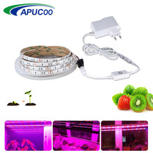 LED Grow Light Volledige Spectrum 5 M LED Strip Licht Set Dimbare Bloem Plant Phyto Groei Lampen Voor Kas Hydro plant Groeit(China)