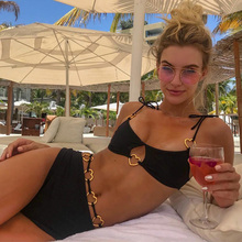 High Waist Bikini 2019 Heart shape rings Bikinis Women Swimsuit Bandeau Swimwear Female Bathing Suit summer Sexy Biquini