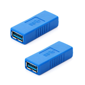 100PCS Hot USB 3.0 Adapter Connector Type A Female To Female Couple Changer Connector Durable for PC Laptop