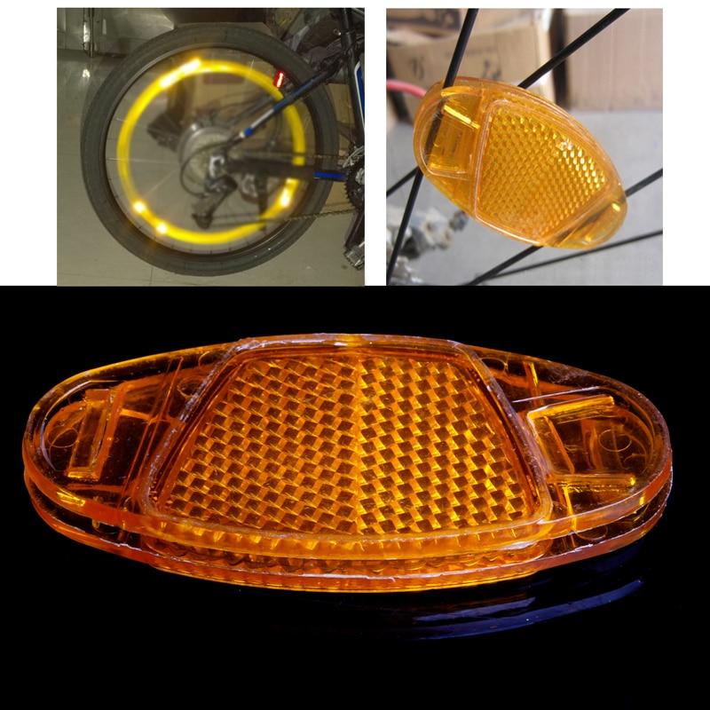 1Pc Bicycle Bike Spoke Reflector Safety Warning Light Wheel Rim Reflective Mount