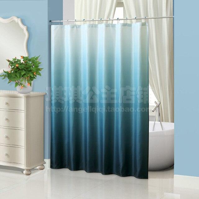 European Elegant Shower Curtain Mildew Waterproof Polyester