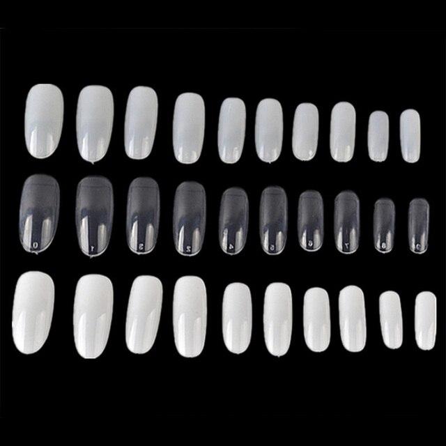 unids nail art ronda final oval manicura francesa uas uas postizas