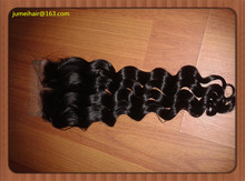 4×4 Brazilian Deep Wave Closure Grade 7a Human Hair Loose Deep Wave Lace Closure Middle Part Natural Black