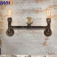 Iwhd Утюг водопровод бра wandlamp Лофт Винтаж Промышленное Освещение Бра 2 головки Ретро arandela лестницы аппликация светильник