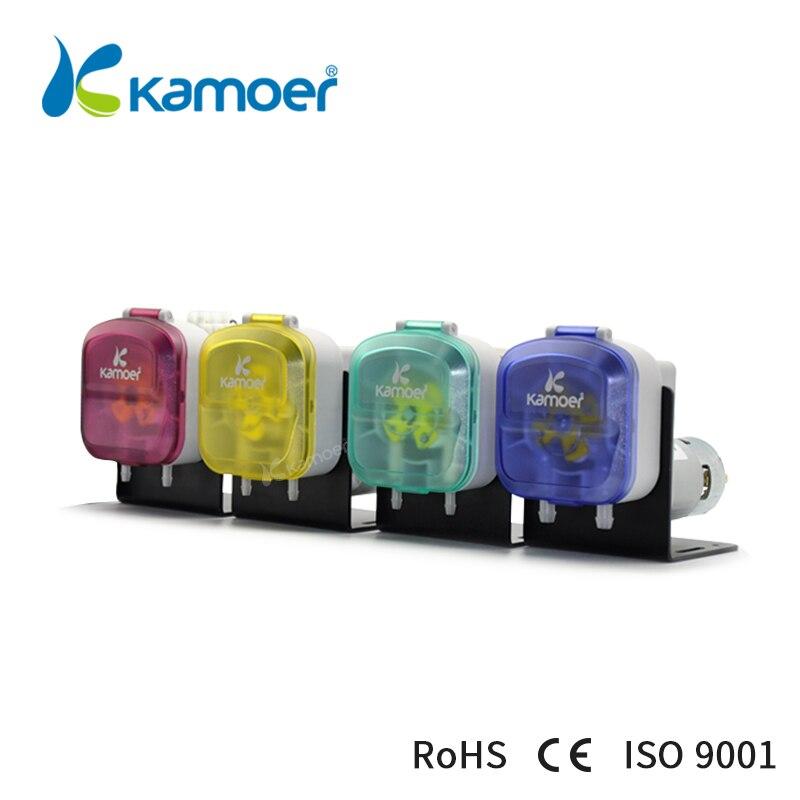 Kamoer KDS Pompe Péristaltique (12 V/24 V/220 V, Pompe À eau, Pompe À liquide, 4 Couleurs, haute Précision, Résistance Aux produits chimiques, haut Débit)