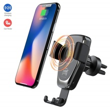 10W Car Mount Qi Wireless Charger For Iphone 8 X XS MAX Air Vent Fast Samsung S10 Plus Xiaomi Huawei