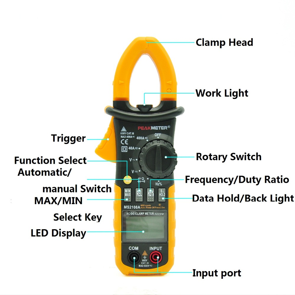 MS2108A Multimeter Clamp meter Digital Resistance DC AC Voltage Current LED display боди эротик rene rofe боди