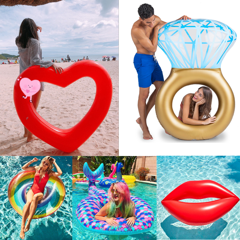 2018 Buoyancy Swim Ring Inflatable ting Swimming Floating for Adults Women Baby Kids Swim Inflatable Pool Funny Toys Life Vest