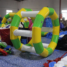 Free shipping by DHL 1PC Water Park Games Rental Commercial Inflatable Water Wheel , Water Inflatable Roller