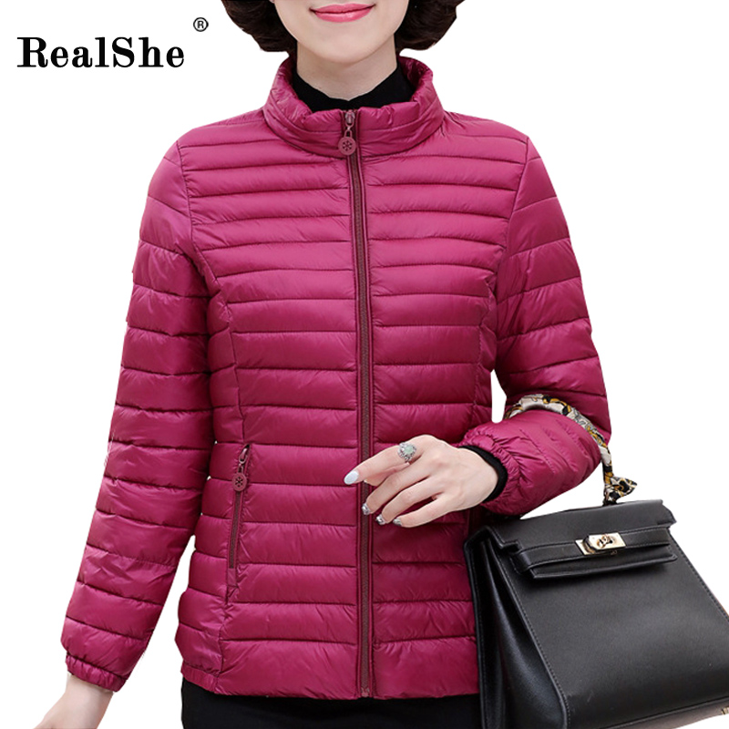 RealShe Winter Vest Women 2017 New Fashion Slim Candy Color Hoodies Vests Warm Stand Helical Insert Pockets Long Jacket Female