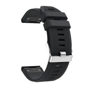 Image 2 - ספורט סיליקון רצועת השעון Wriststrap עבור Garmin Fenix 6X 6 6S פרו 5X 5 5S בתוספת 3 3HR 20 22 26mm קל Fit מהיר שחרור wirstband