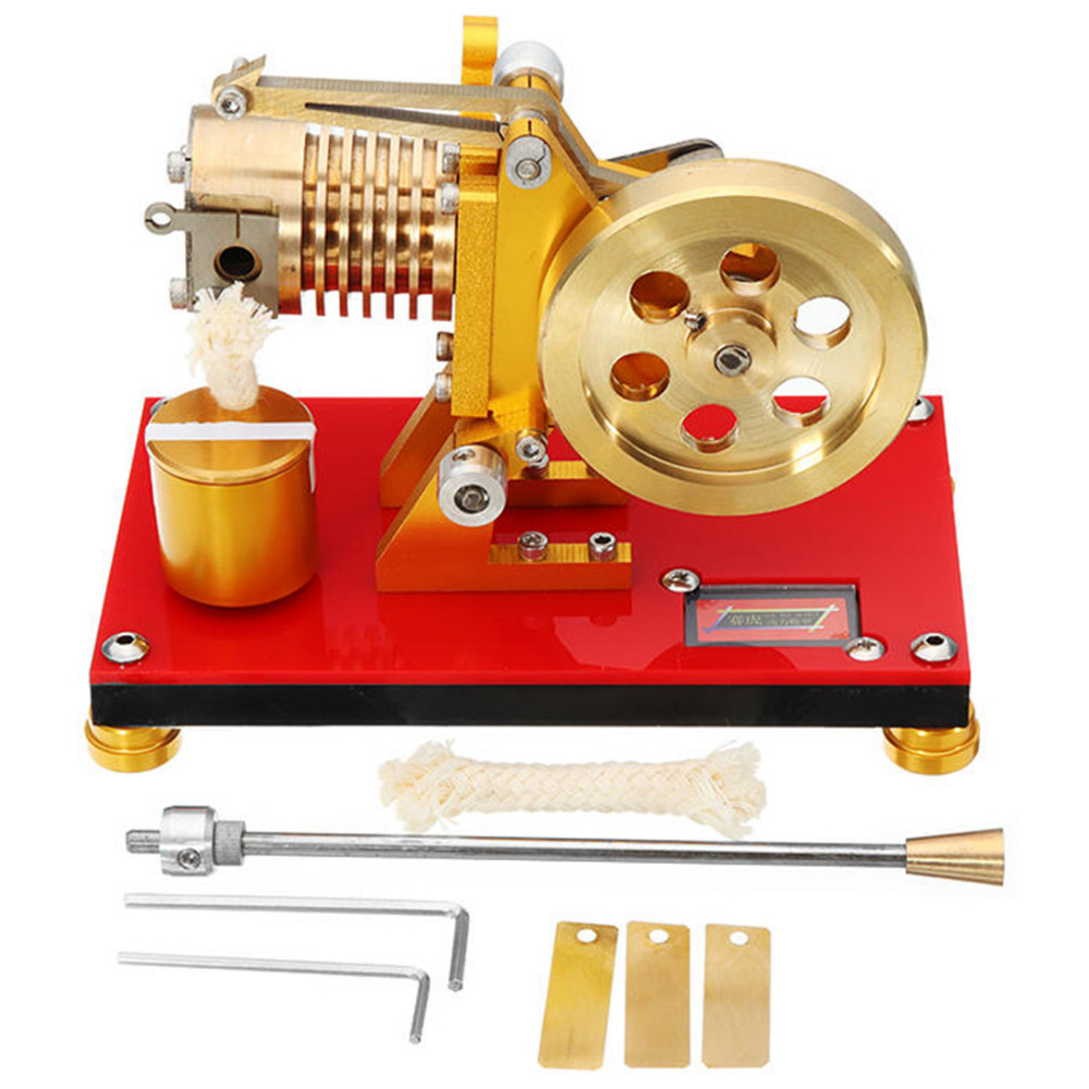 hight resolution of suction fire type stirling engine edition pure copper air cylinder heat energy engine model physics science experiment toy