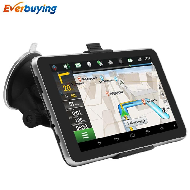 TiaiwaiT Car font b GPS b font Navigation Android 7 inch 16GB Bluetooth MT8127 Quad core