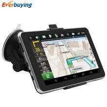 TiaiwaiT MT8127 Coche de Navegación GPS Android 7 pulgadas 16 GB Bluetooth Quad-core navigator rusia Navitel mapa de Europa de camiones gps sat nav