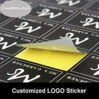 Customize Company LOGO Brand Label Kraft Paper/MATTE GOLD/Silver Drawbench Sticker Logo Personalized PVC Stickers Wholesale