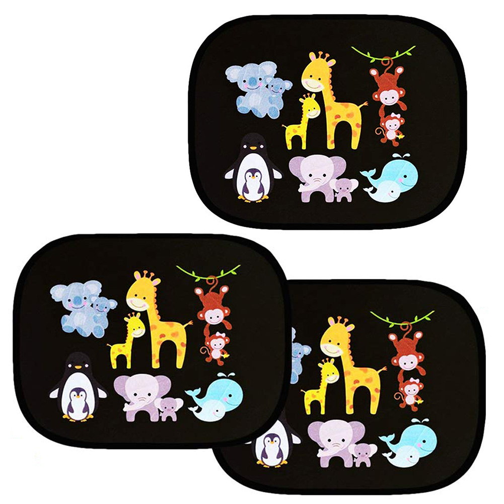 Image 5 - 2pcs/Set Car Side Window Sunshade Cartoon Patterned Auto Sun Shades Protector Foldable Car Cover for Baby Child Kids Car Styling-in Side Window Sunshades from Automobiles & Motorcycles