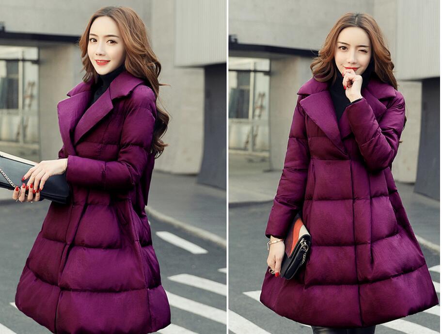 Femelle L56 Épaisse Doudoune Chaud Veste Black Rembourré S Femmes Mince Femme purple purple Nouveau 2xl Coton D'hiver Manteau red Parkas 2017 xqcpa7C