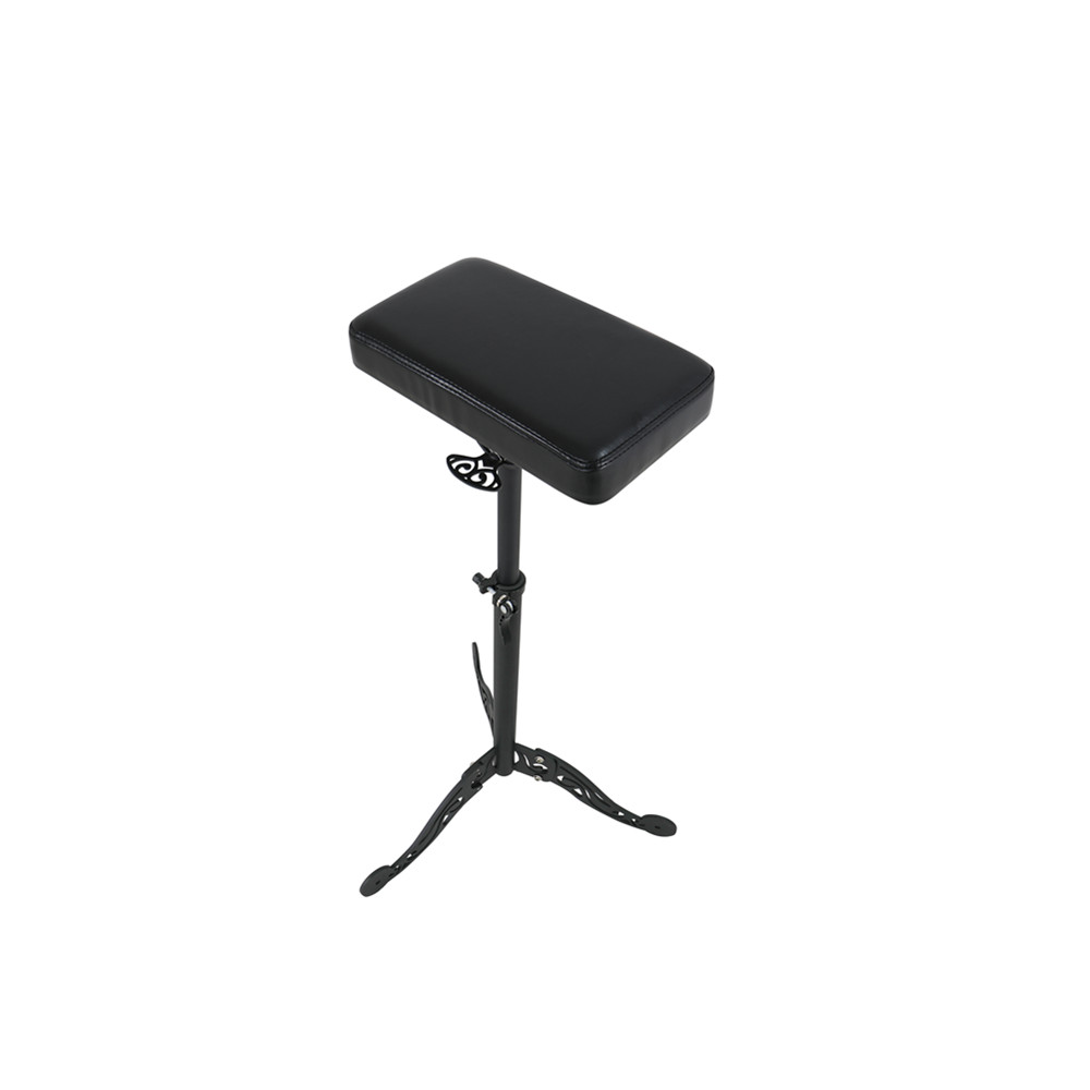 Tattooist Tattoo Tools Adjustable Height Stand Tray Tattoo Stool Leather Pad Support Hand Shelf Portable Arm Rests Bracket Chair