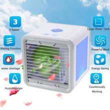 3 скорости USB портативный мини воздушный охладитель воздуха кондиционер Свет Увлажнитель очищает вентилятор воздушного охлаждения для домашнего офиса