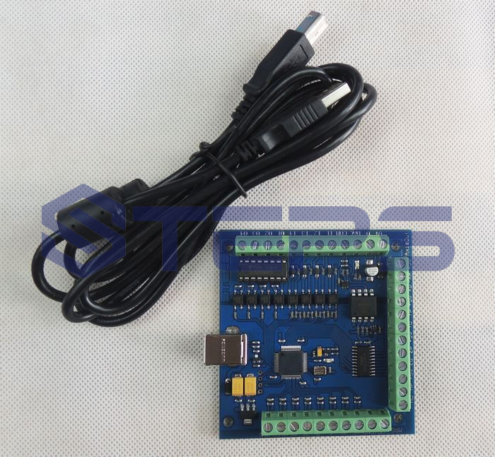 Free shipping 100khz cnc mach3 4 axis usb smooth stepper for 4 axis stepper motor controller