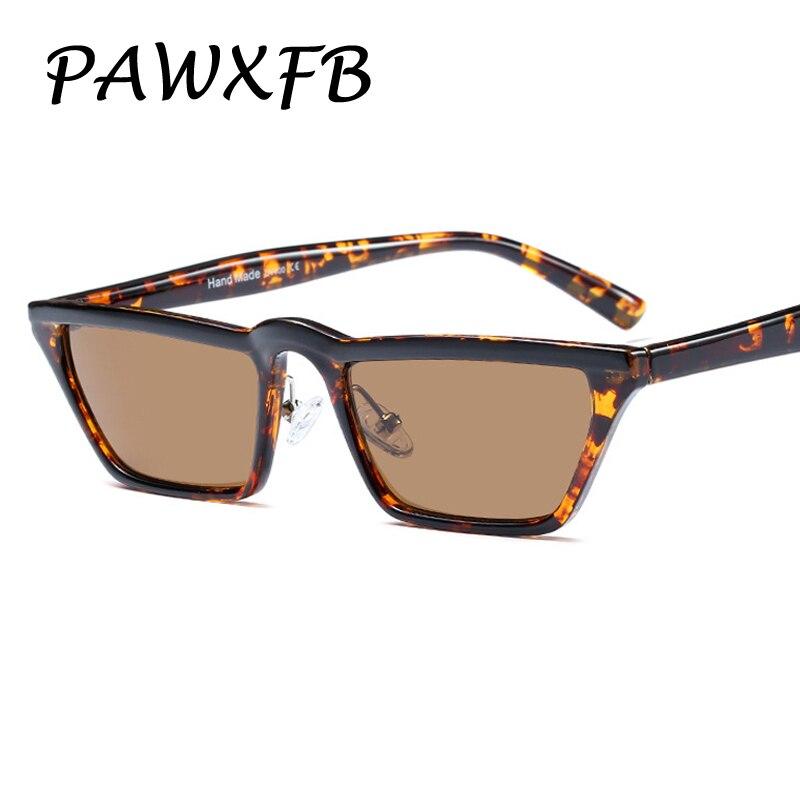 Pop Age 2018 New Small Frame Sunglasses Men Women Cat Eye Leopard Black Driving Glasses Fashion Male Female Oculos de sol Shades