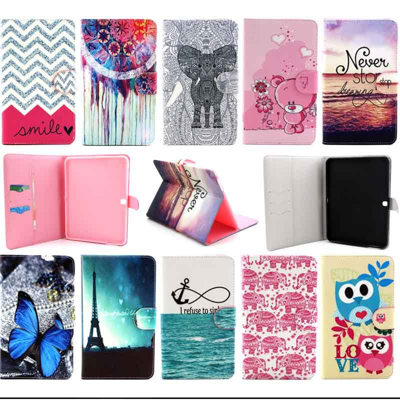 Fashion Print Leather stand tablet case for Samsung Galaxy Tab 4 10.1 inch T530 T531 T535 Tab4 10.1 Tablet Cover
