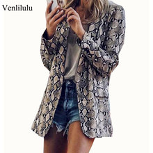 2019 Aumtmn Snake Skin Blazer Women Vintage Suits B