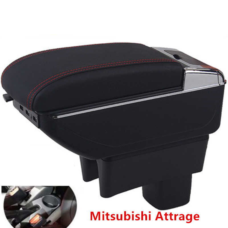 For mitsubishi Attrage Mirage armrest box central Store content box products interior Armrest Storage accessories partsFor mitsubishi Attrage Mirage armrest box central Store content box products interior Armrest Storage accessories parts