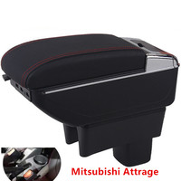 For mitsubishi Attrage Mirage armrest box central Store content box products interior Armrest Storage accessories parts
