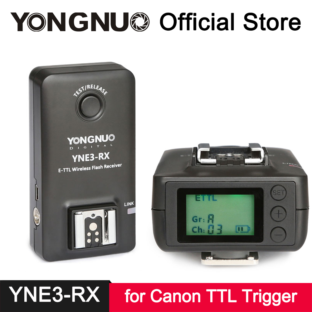 YongNuo YNE3-RX E-TTL Wireless Flash Trigger Receiver for Canon 580EX II 600EX-RT YONGNUO YN568EX YN565EX YN600EX-RT YN-E3-RT II аксессуар phottix strato ii receiver for canon 15656