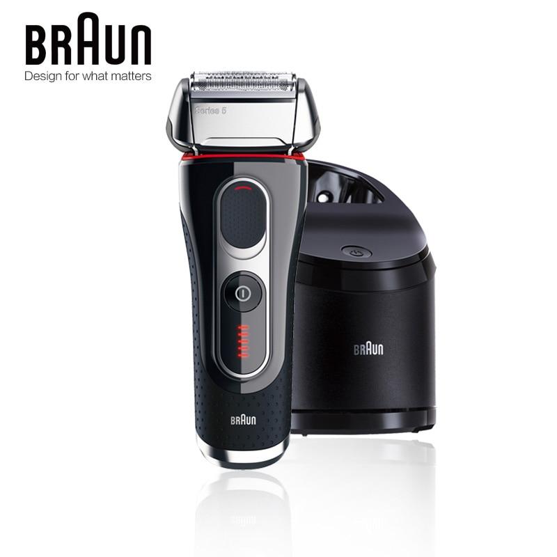 Бритва Braun электробритва бритва 5090cc для мужчин, бритвенные лезвия с возвратно-поступательным движением, перезаряжаемый моющийся очищающий центр 2